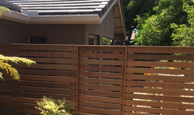 IPE Wood Fence Rancho Santa Fe