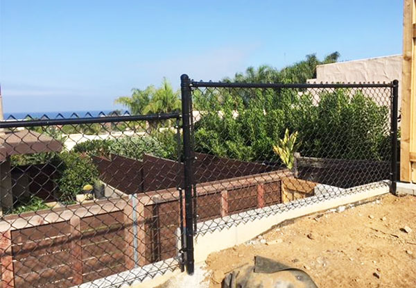 Black Coated Chain Link Fence