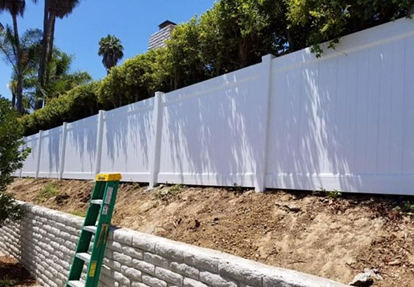 White Privacy Vinyl Fencing