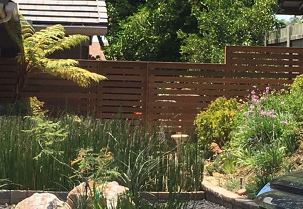 Modern, Durable IPE Fence Installation