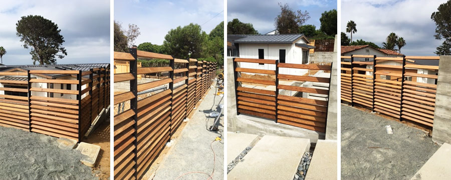 Ipe Wood Fence Installation in Solana Beach, CA