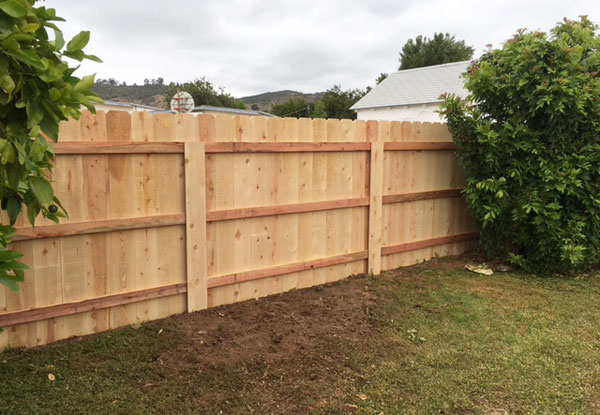 Custom Residential Wood Privacy Fence