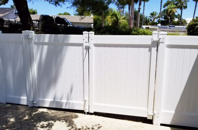 White Vinyl Fences & Gates